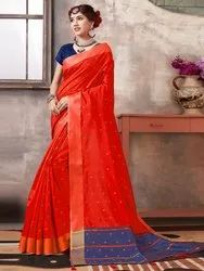 Banglori Silk Weaving Saree With Blouse Piece