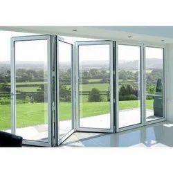 Toughened Glass UPVC Folding Door, 2mm To 3mm