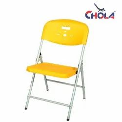 YELLOW Iron CHOLA FOLDING CHAIRS, for Home