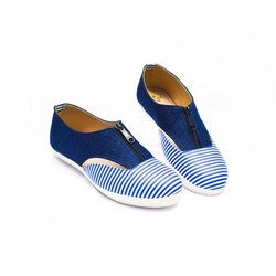 P.Leather Casual Ladies Zipper Shoes