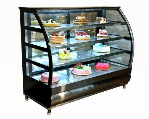 SS And Glass Food Display Counter