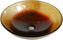 Brown Glass Wash Bowl