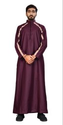 Men Islamic Wear Cotton Thobe Jubba