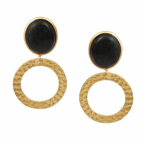 Blue Topaz Quartz 18k Gold Plated 925 Sterling Silver Bezel Handmade Dangle Earrings