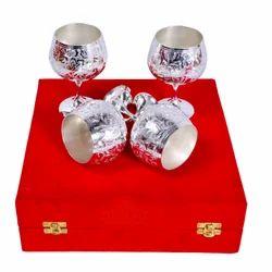 Sliver Set of 4 Wine Glass