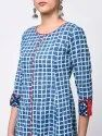 Yash Gallery Women's Cotton Checks Print Anarkali Kurta