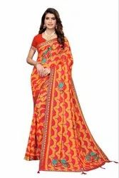 GEORGETTE JAQUARD BORDER SAREE