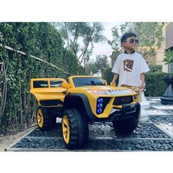 Single Yellow Kids Monster Car, Two Motor