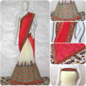 Riva Designer Designer Kutchi Work With Real Mirror Handwork Saree