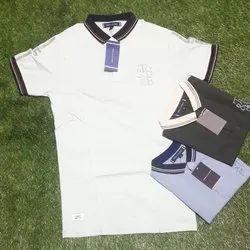 Cotton Half Sleeves White Baby T Shirt