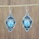 Hanging 925 Sterling Silver Turquoise Gemstone Handmade Earring We-6003