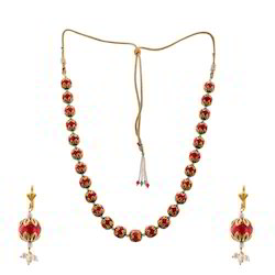 Rajasthani Ball Necklace Earrings Set 228