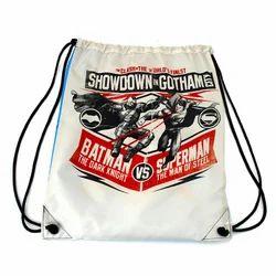 Printed Drawstring Gym Bag