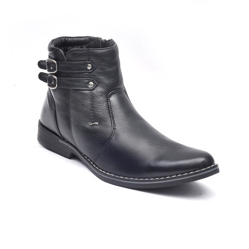 ad0f9e1cc05 Black Leather Boots Mens Zipper Leather Boot, Size: 7, 8, 9, 10, Rs ...