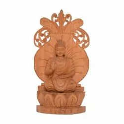Wooden Meditation Buddha, Packaging Type: Box Pack