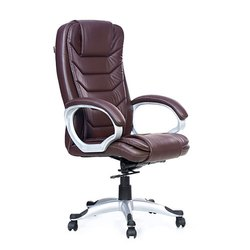 Brown Revolving Executive Chairs
