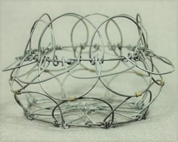 Grey Round Metal Wire Basket, Size: 10 Inch
