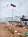 Swaged Solar Street Light Pole