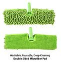Spray Floor Mop with Microfiber Pad (Machine Washable) & Refillable Bottle-Green