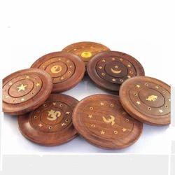Round Wooden Incense Holder