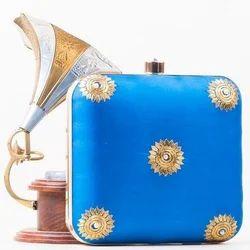 Turquoise Designer Ladies Clutch