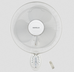 Havells White Platina Remote Wall Fan, Warranty: 2 Year