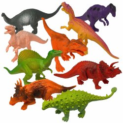 7 inch Dinosaurs Pack of 12