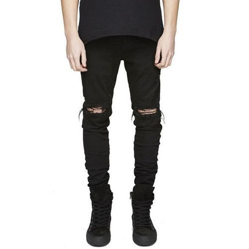 Forma della nave andare a prendere In anticipo  Black denim Mens Knee Ripped Jeans, Rs 1600 /piece Digital Time Enterprises  | ID: 16975558191