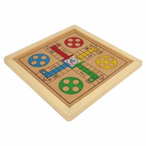 Square Wooden Ludo Game Board