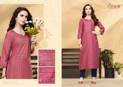 Straight Banarasi Silk Kurti With Silk Pant, Size: M L Xl Xxl