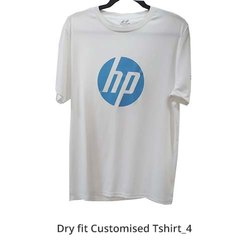 Nivia Plain Dri Fit Round Neck White T Shirt