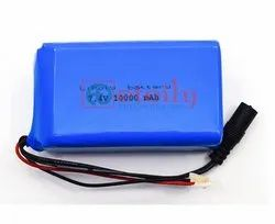 Lithium Polymer Battery Pack 3.7 V 1S2P 10000 mAh