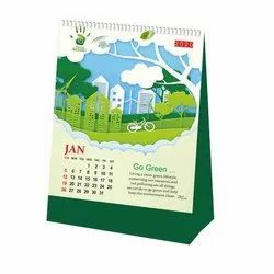 English Paper Corporate Table Calender, For Office