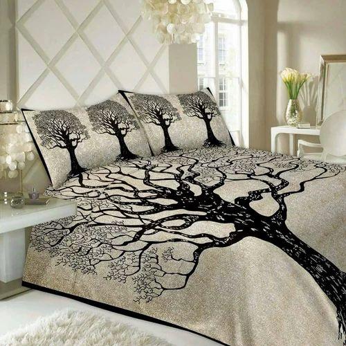 cotton printed stylish bed sheet set rs 525 set mustard designing