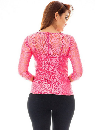 2a41326ceefeca Femninora Floral Lace Top (Pink), Rs 599 /piece, Instra Group | ID ...
