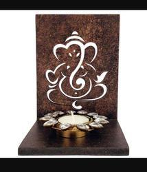 AJBSK Wooden Tea Light Holder, For Wall And Table Tealight Stand, Shape: Square