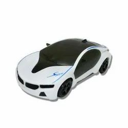 Black and White Children Plastic Toy Car, No. Of Wheel: 4