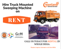 Hire Truck Mounted Sweeping Machine on RENT Across INDIA