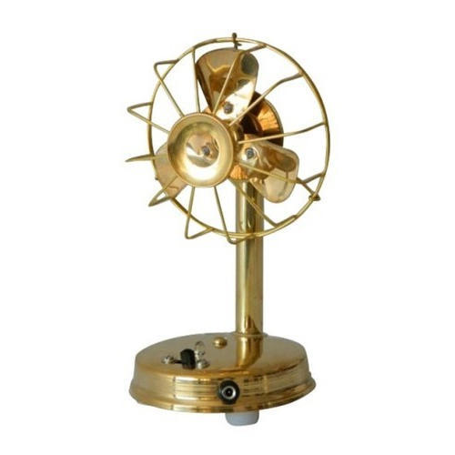 Golden (gold Plated) Brass Table Fan, for Interior Decor