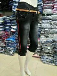 Denim 28-32 Ladies Jeans Capri