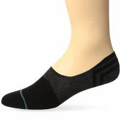 Black & Grey Cotton Ladies Loafer Socks