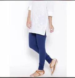 Ladies Cotton Lycra Churidar Plain Leggings