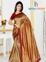 Party Wear Check Pattern Fancy Bollywood Sarees