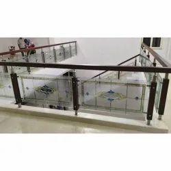 Saint Gobain Acid Texture Railing Glass