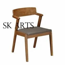 SK ARTS Natural Wooden Chair