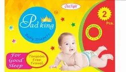 Pad King Nonwoven Baby Diaper, Age Group: 3-12 Months, Packaging Size: 2