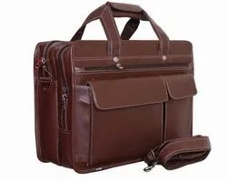Budh Brown Pure Leather 15.6 Inch Laptop Bag, Capacity: 16 L
