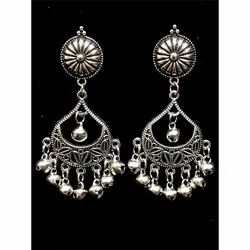 Oxidized Chand Earrings
