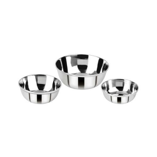 Amit Round Stainless Steel Bowls, For Home, Packaging Type: Box