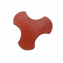 60 mm Red Interlocking Tile